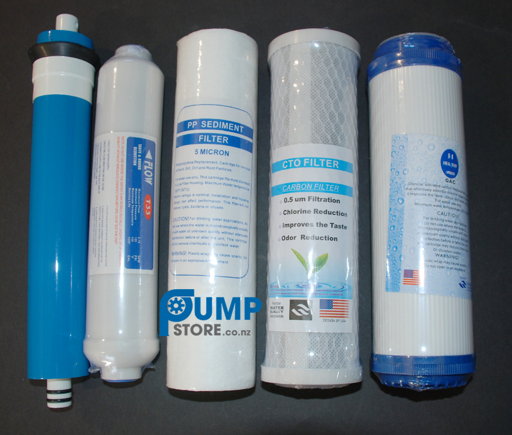 5-Stage Reverse Osmosis Water Filters + RO Membrane Filter   Pumps ... eb5e8b677
