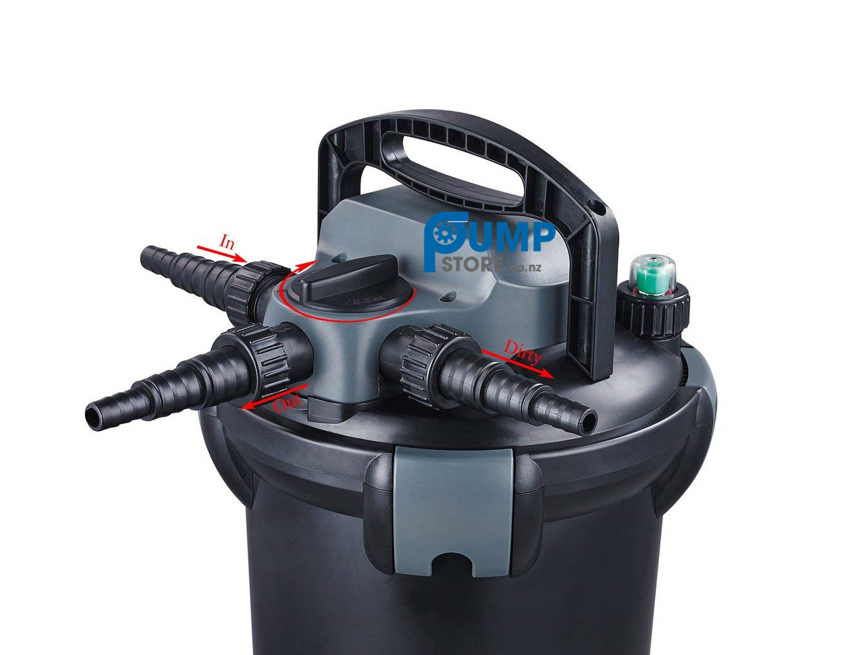 Jebao Cbf 4000 Pressure Fish Pond Filter Uv 9w 4000l New